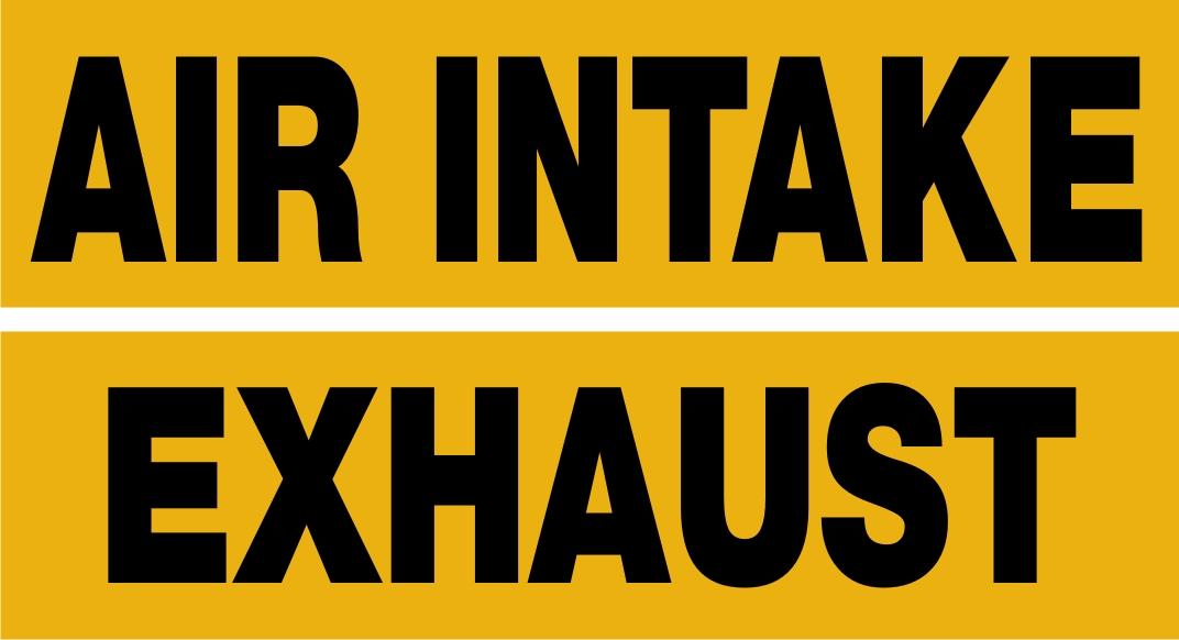 Combo Air Intake/Exhaust Decals